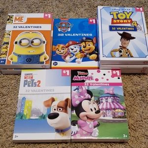 Lot of 8 boxes of various Valentine Card designs